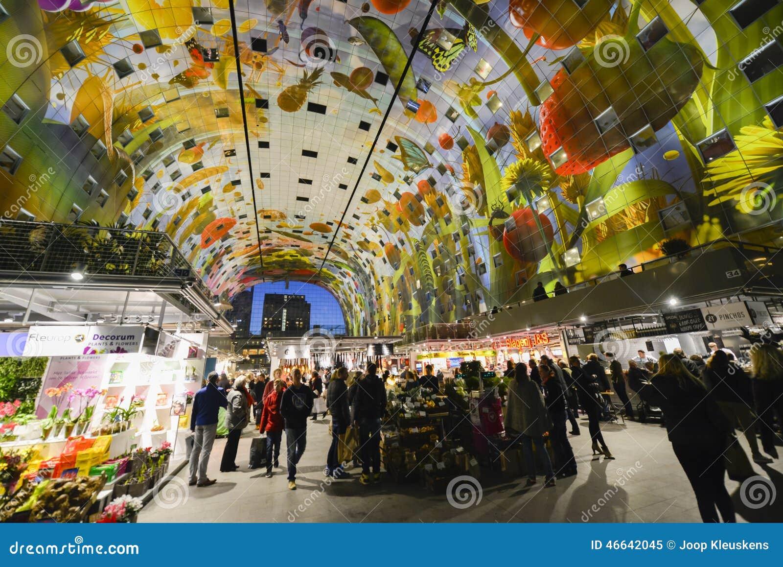 Colorful Market Hall Rotterdam Editorial Image Image