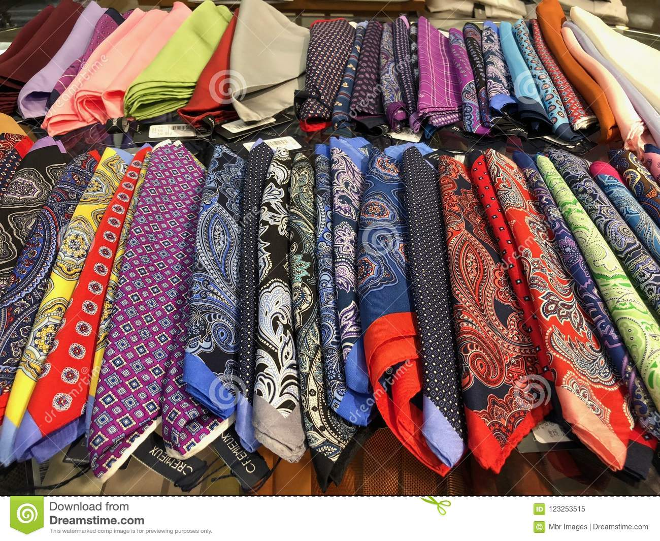 Colorful Mens Pocket Squares Editorial Image - Image of party, dress:  123253515