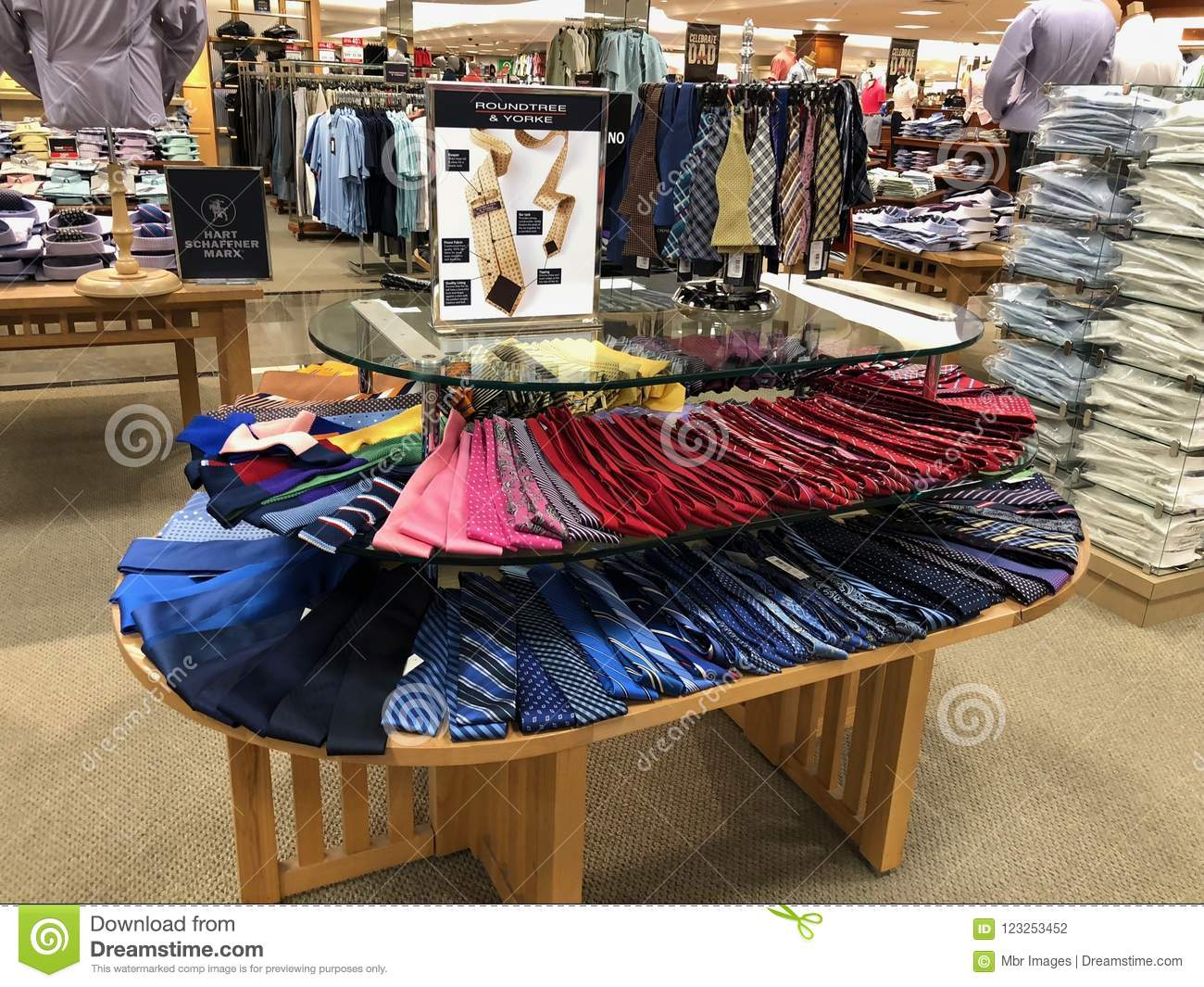 b697f59b63ae Colorful men ties. editorial photography. Image of sale - 123253452