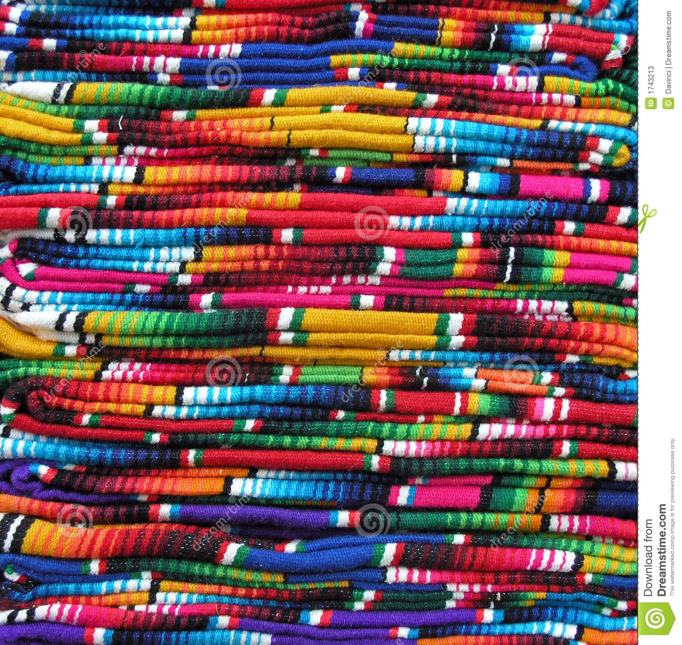 Colorful Mexican Blankets Stock Photos Image 1743213
