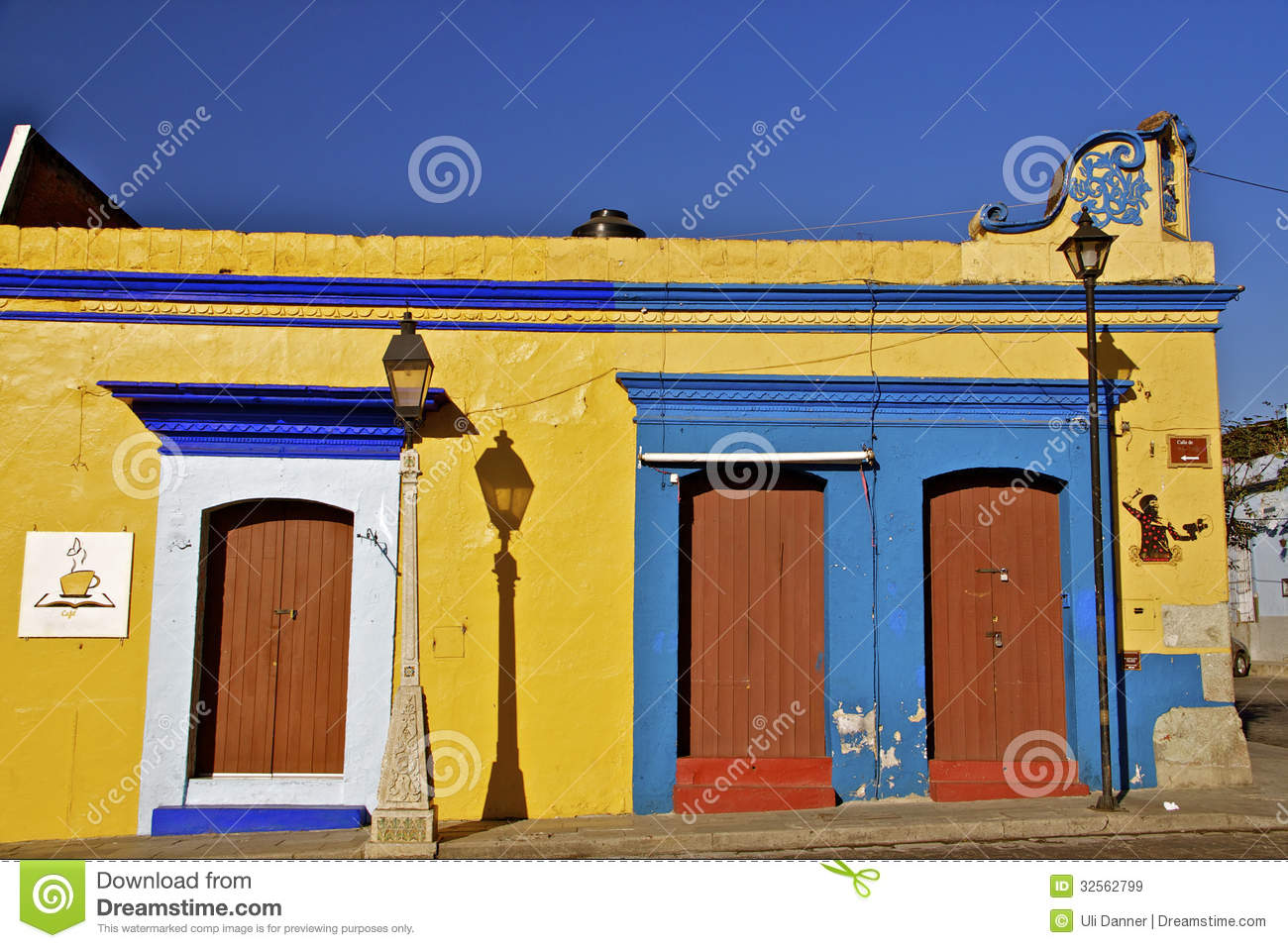 Colorful Mexican Houses Stock Image Of Street