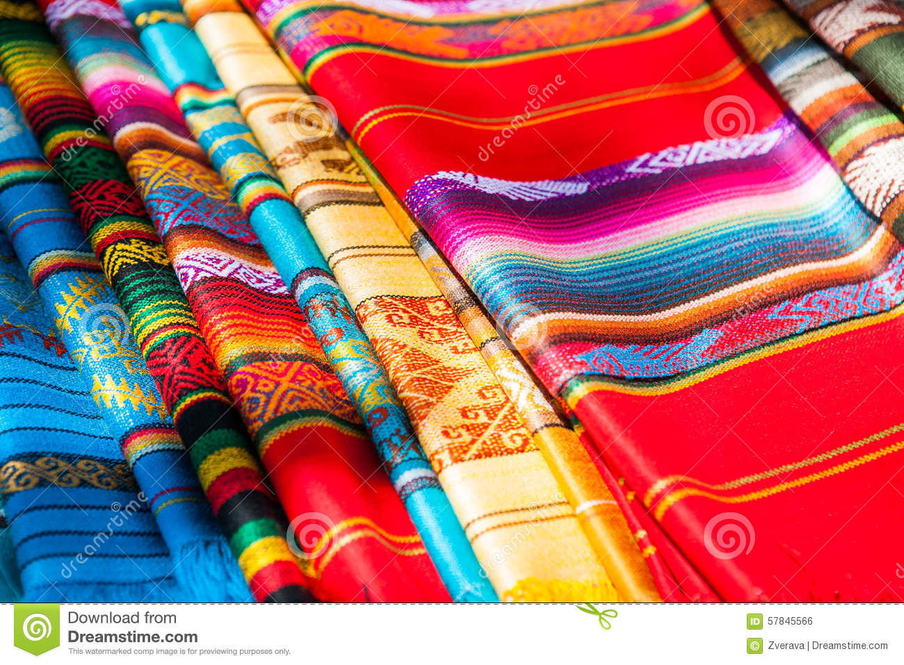 Mexican Rugs And Blankets Decorate The Interior With