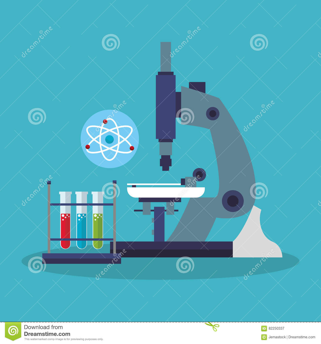 Colorful microscope and laboratory design stock vector download colorful microscope and laboratory design stock vector illustration of test vector 82250337 ccuart Images