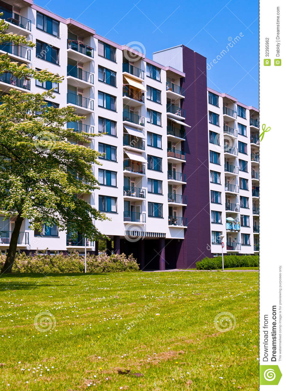 Colorful Modern Apartment Building Stock Photography Image 32395962