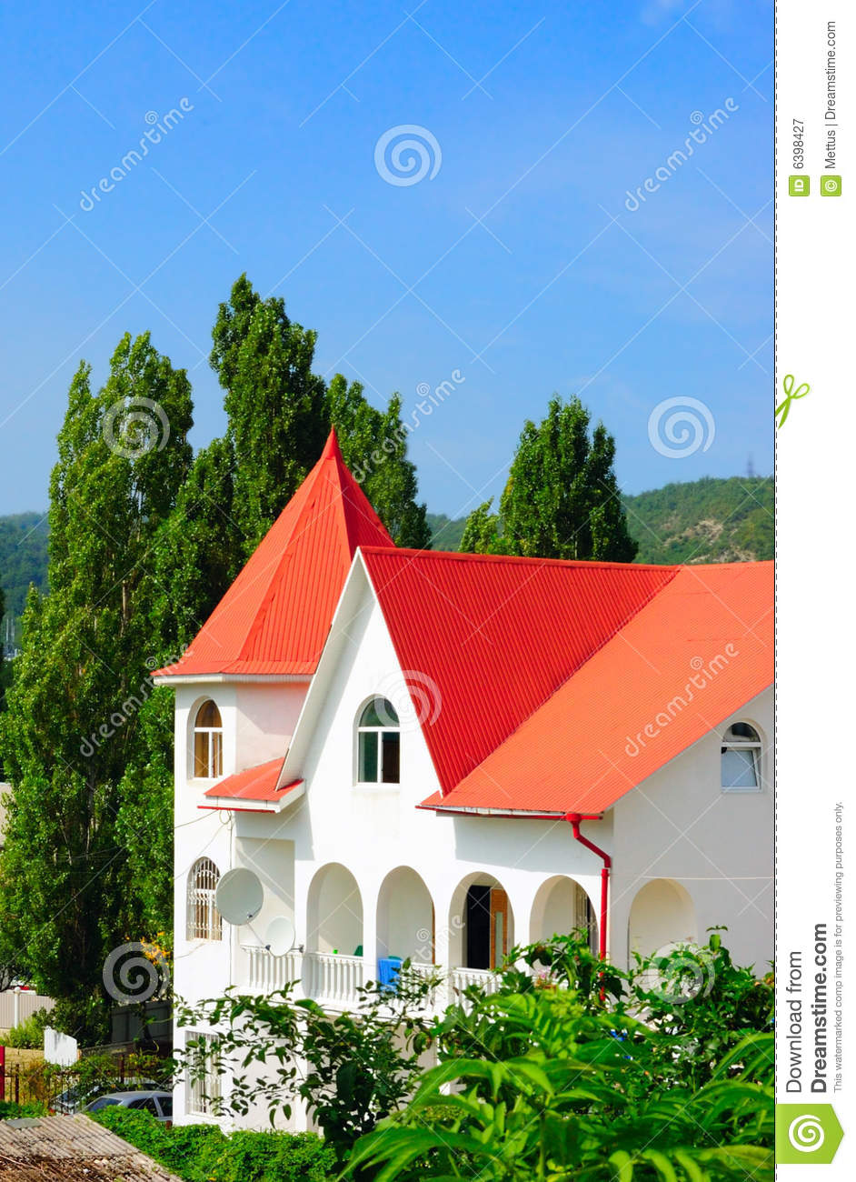 Colorful modern country house royalty free stock for Country house online
