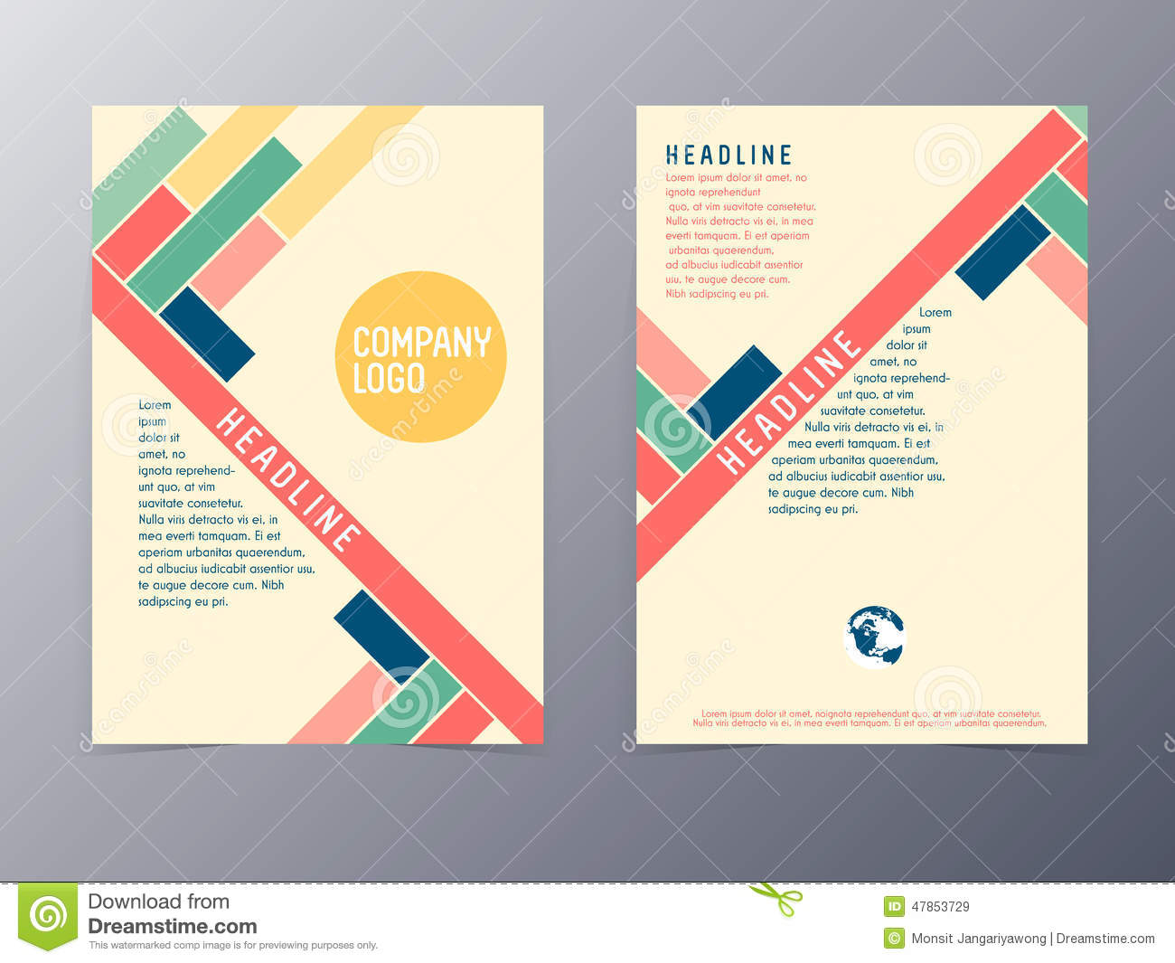 yellow grid modern vector flyer template design stock vector colorful modern design flyer template vector royalty stock images