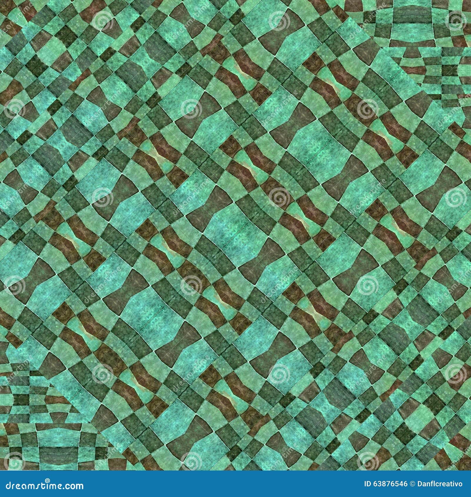 Colorful Modern Geometric Pattern Mosaic Stock