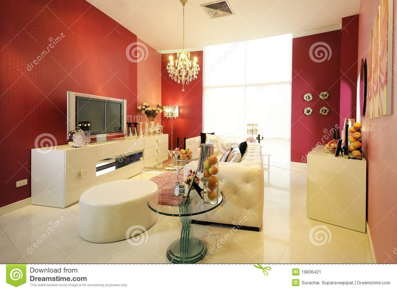 Colorful, modern living room 03