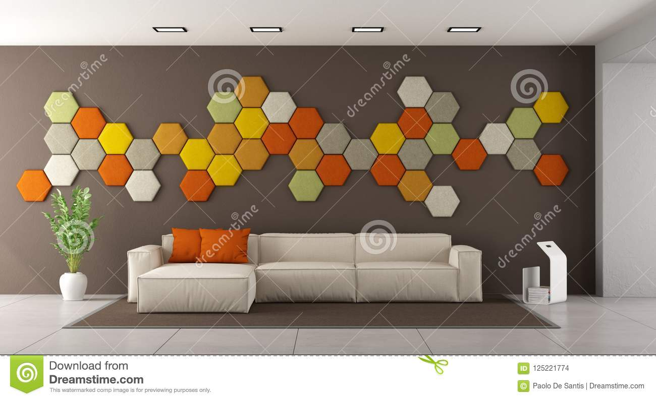 Download Colorful Modern Living Room Stock Illustration   Illustration Of  Nobody, Architecture: 125221774