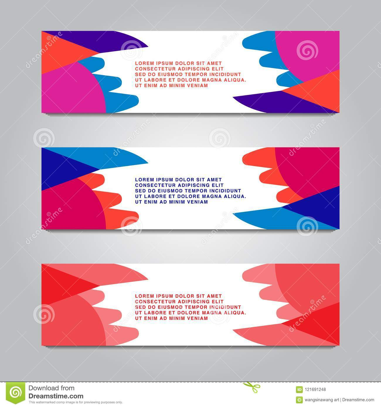 colorful modern text box template for website computer graphic