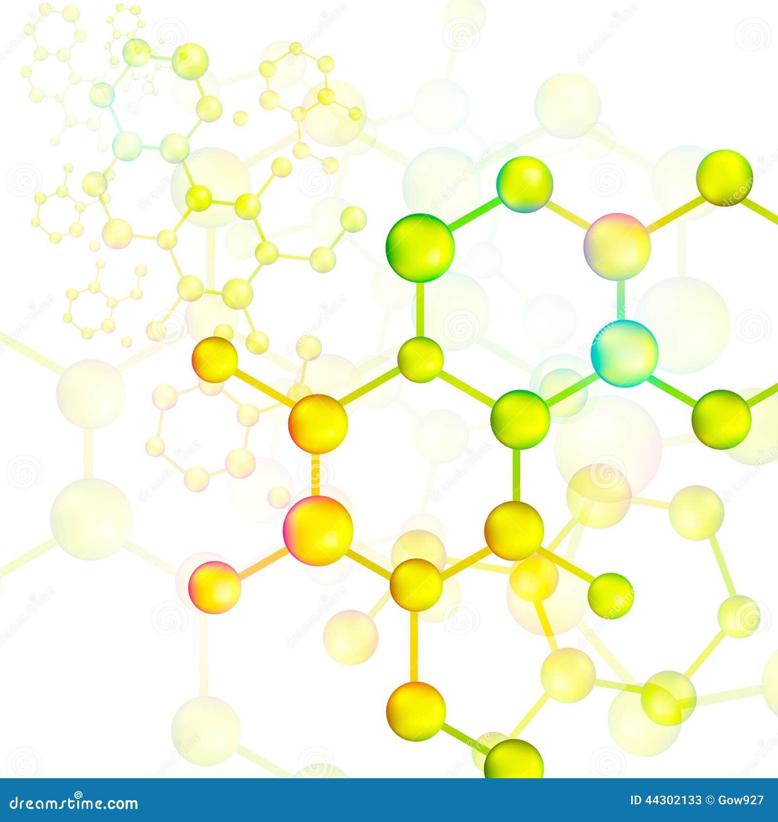 Colorful Molecule Bond Background Vector Stock Vector