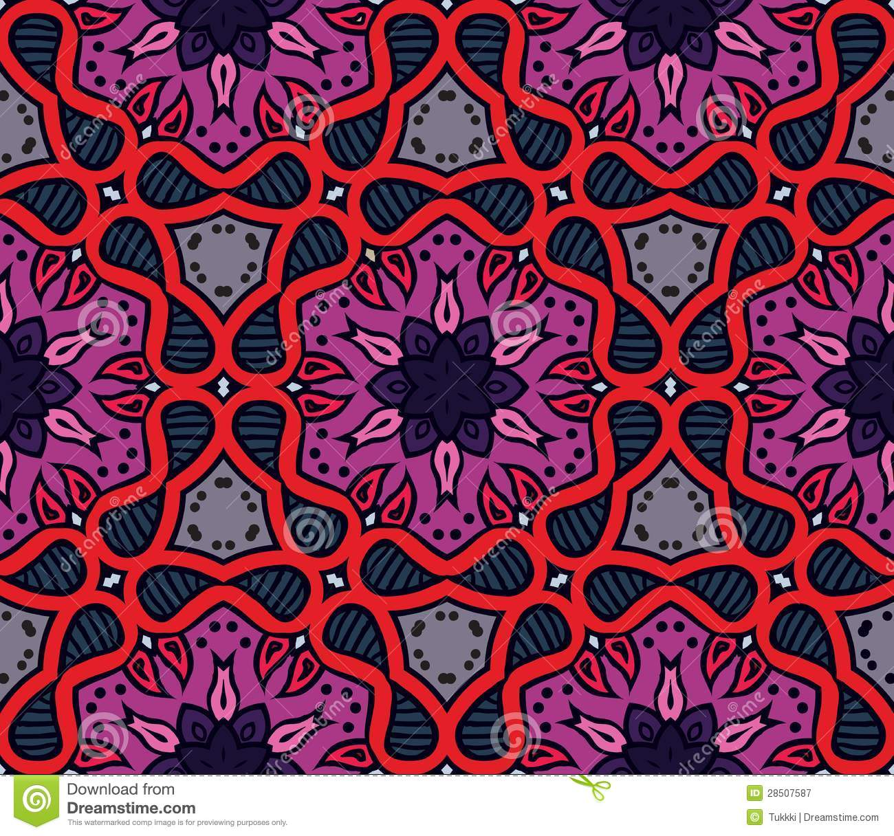Colorful Moroccan Ornament In Vector Royalty Free Stock Photography ...