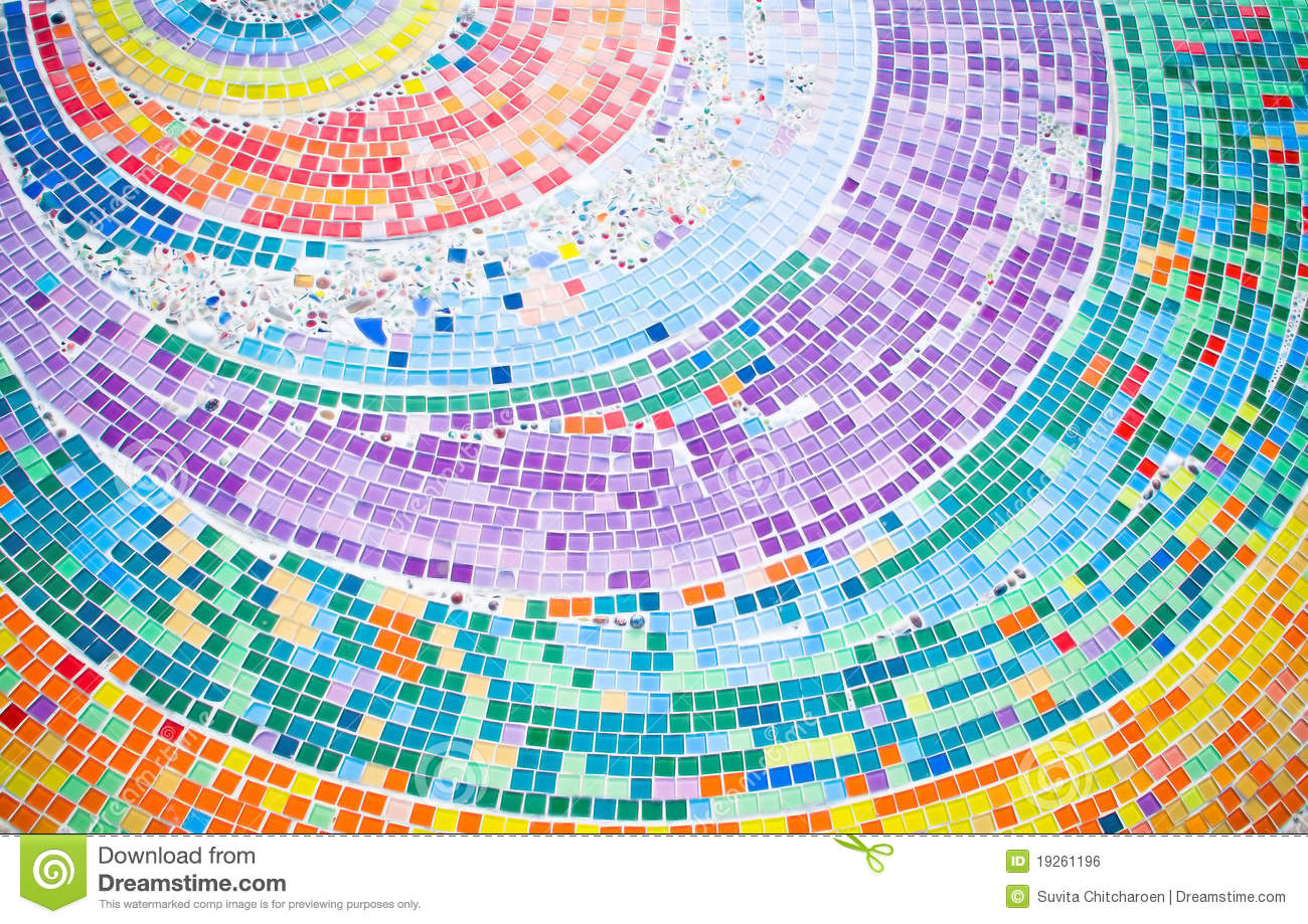 Colorful Mosaic Background Circle Stock Photo Image