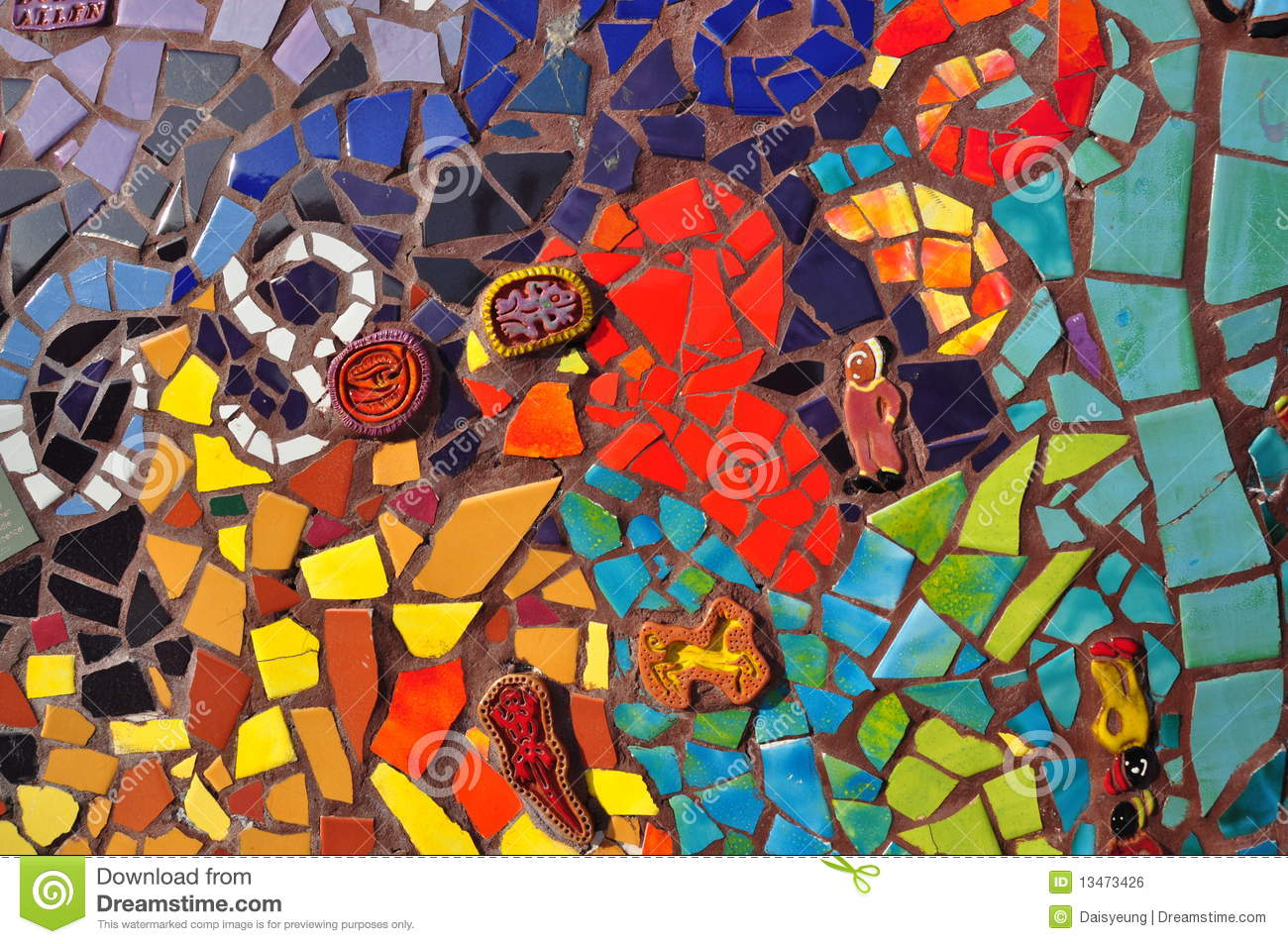 Colorful Mosaic Ceramic Tile Stock Photo Image Of