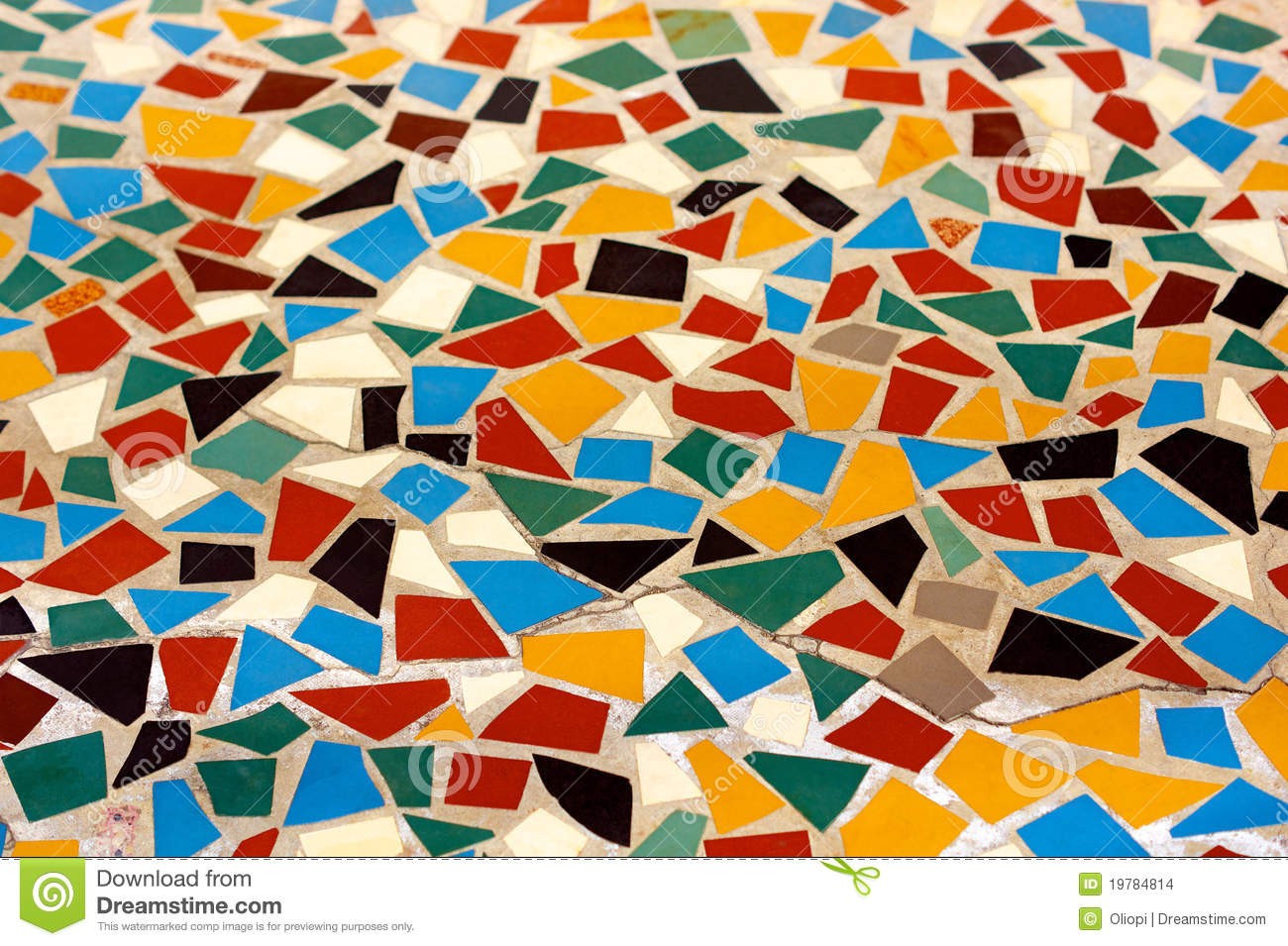 Colorful Mosaic Floor Stock Images Image 19784814