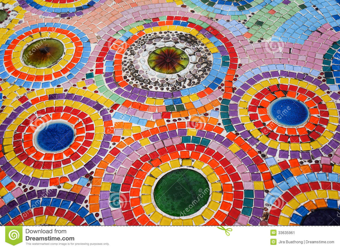 Colorful Mosaic Floor Stock Image Image 33635961