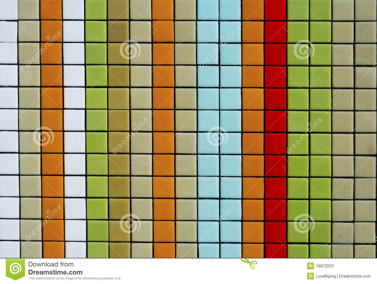 Colorful Mosaic Tiles Stock Image Image 16672231