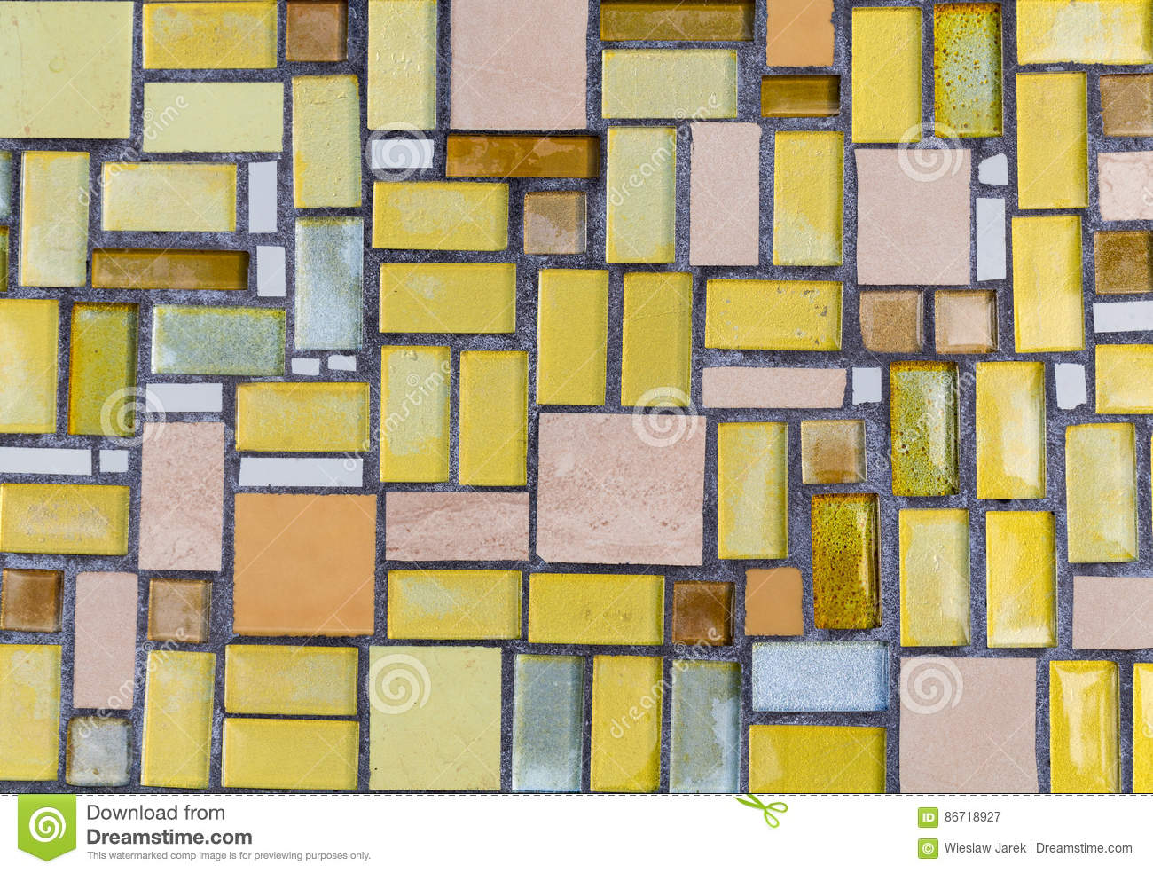 Colorful Mosaic On The Wall, Abstract Glass Background. Stock Image ...
