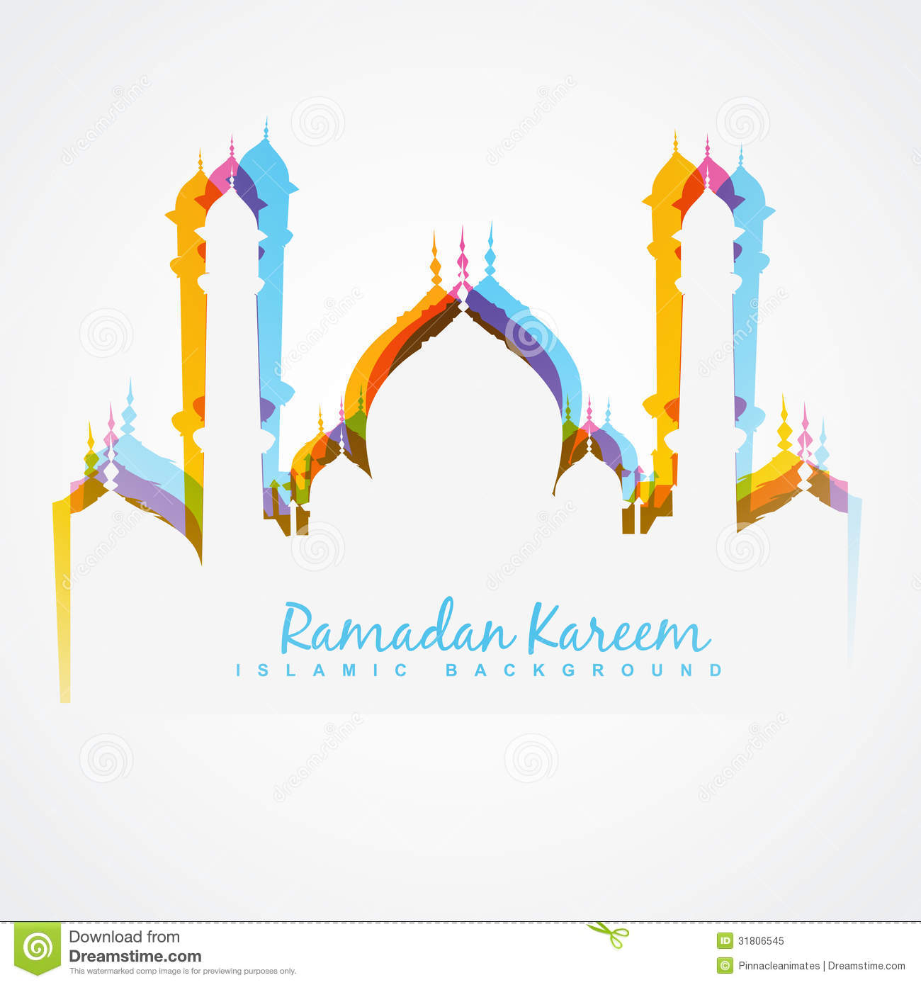 Colorful Mosque Design Royalty Free Stock Photo Image