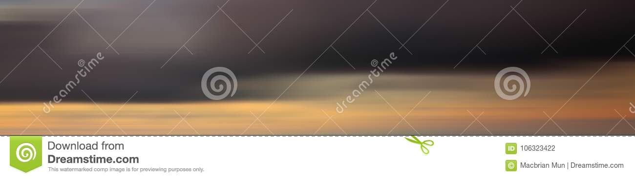 Colorful motion blur effect of sunset for background