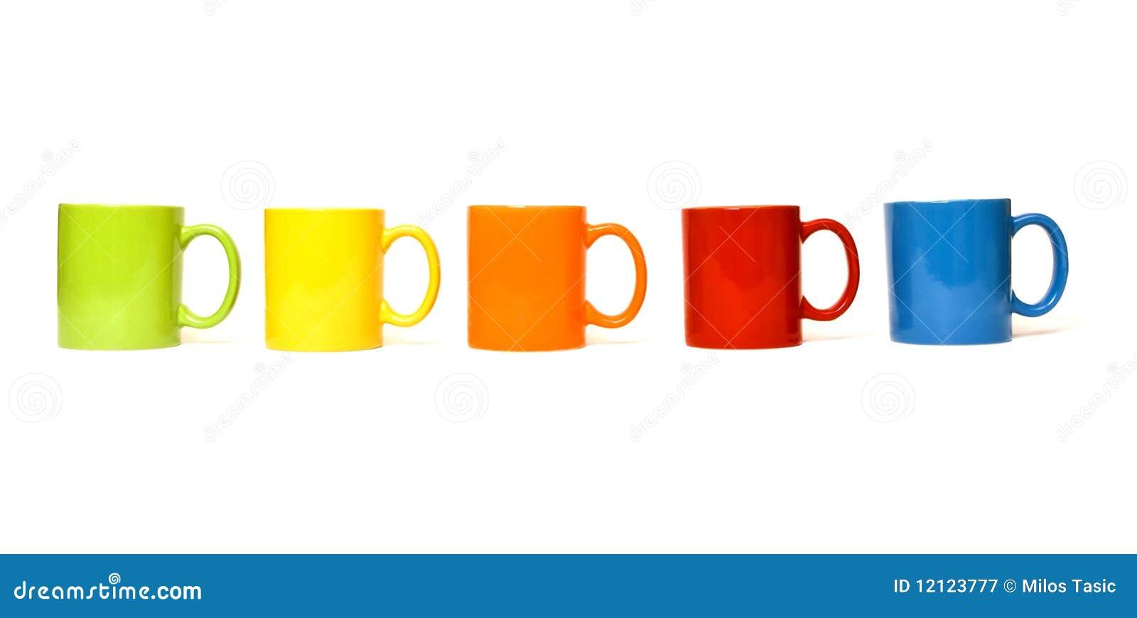 colorful mugs royalty free stock photography - Colorful Mugs