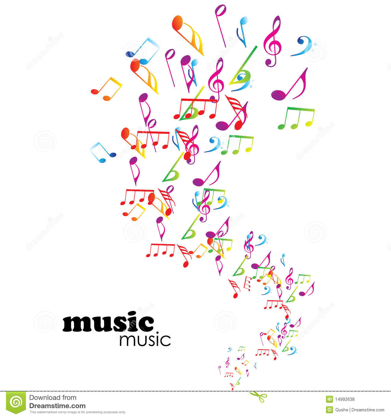 Colorful music background stock vector  Illustration of funny - 14992638