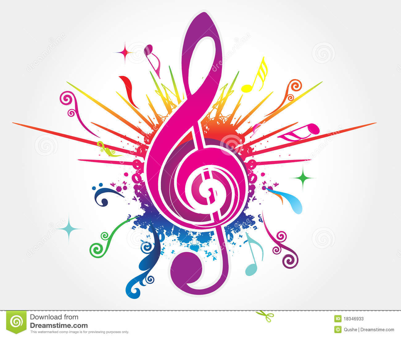 Colorful music background stock vector. Illustration of ...