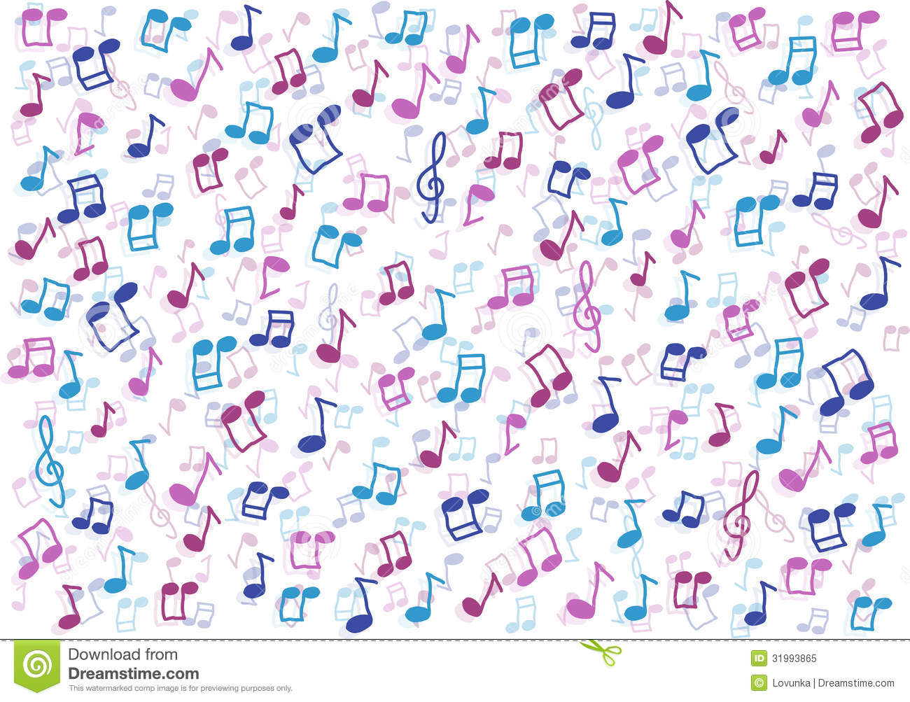 Royalty free stock photo colorful music notes background