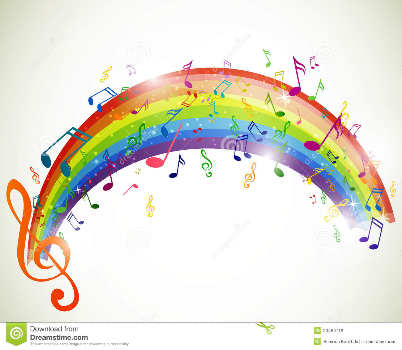 Colorful Music Notes Royalty Free Stock Image Image