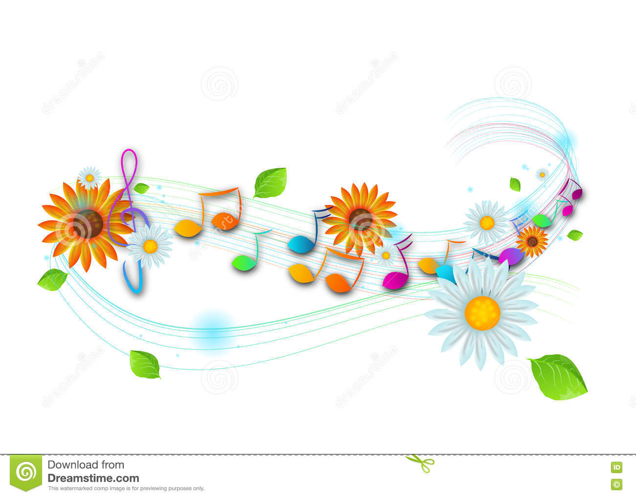 music notes backgrounds floral - photo #25
