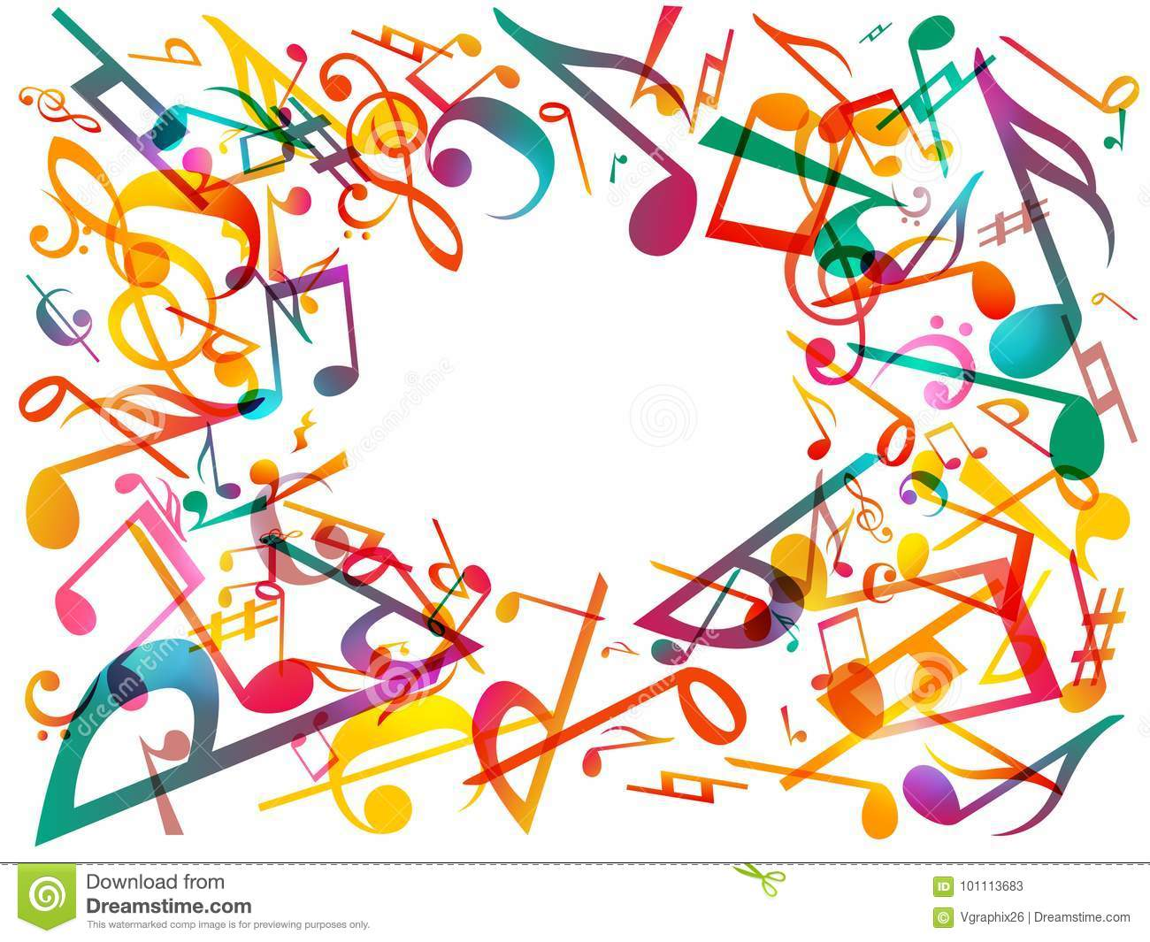 Photos Of Abstract Background With Colorful Music Notes As Fine Info For You