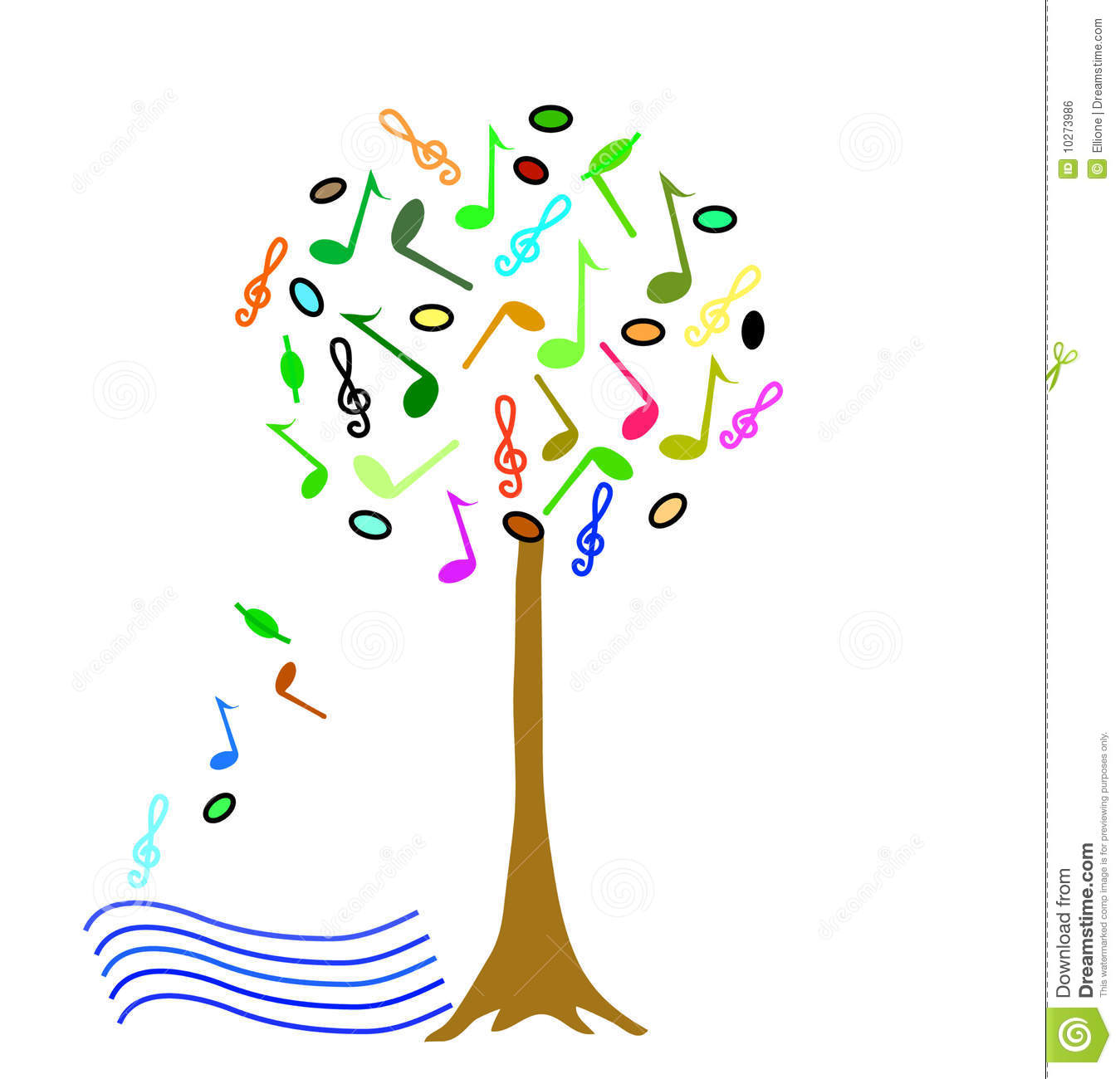 Royalty Free Stock Image Colorful Music Tree Image10273986 on Conservatory Design Plans