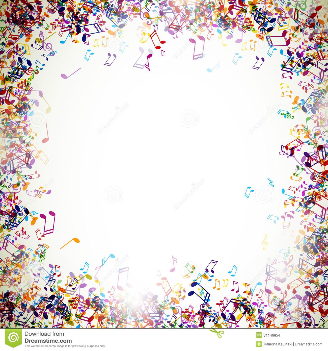 Colorful Musicnotes Stock Images - Image: 31146854