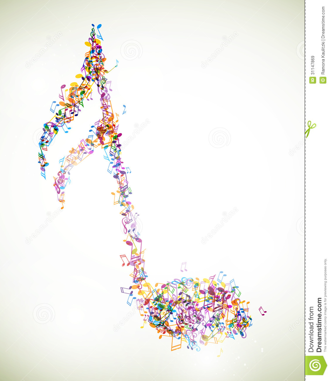 Christmas Music Notes Clip Art