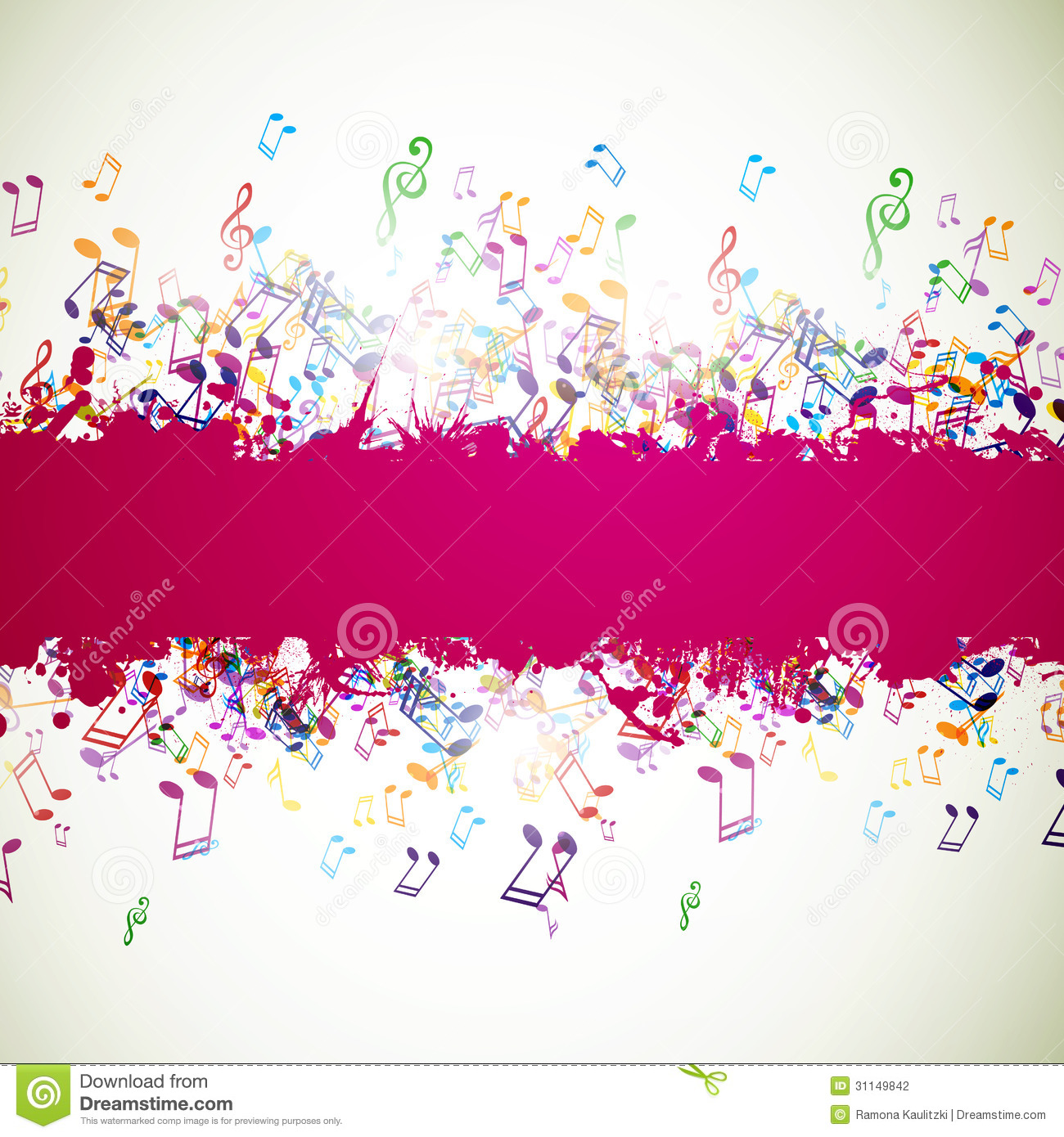 Colorful Musicnotes Stock Photography - Image: 31149842