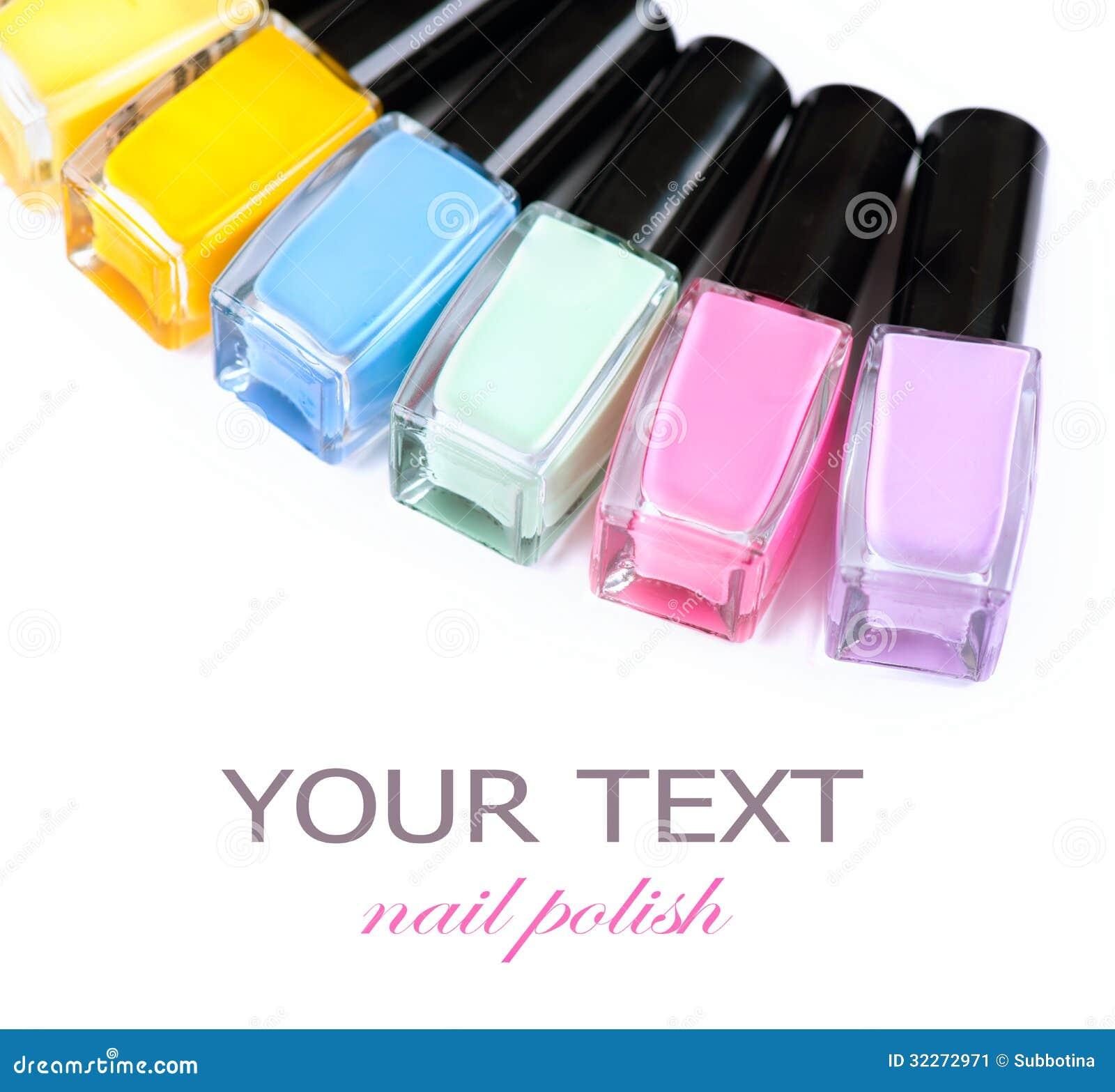 Colorful Nail Polish Bottles Stock Image Image 32272971