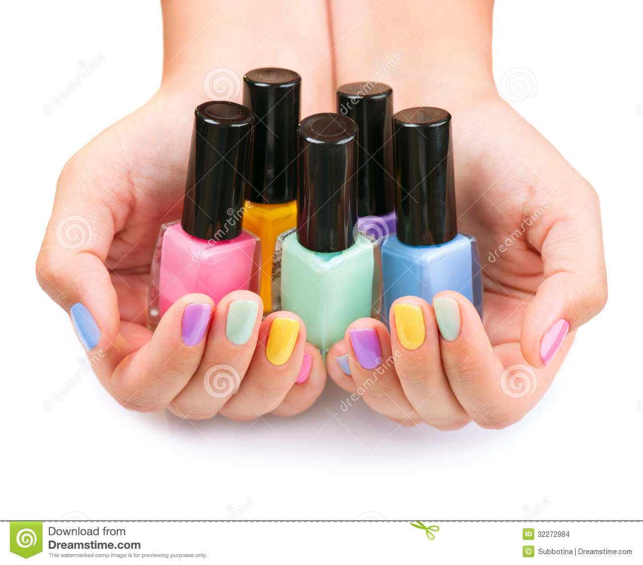 Colorful nail polish bottles stock images image 32272984 - What to do with nail polish ...