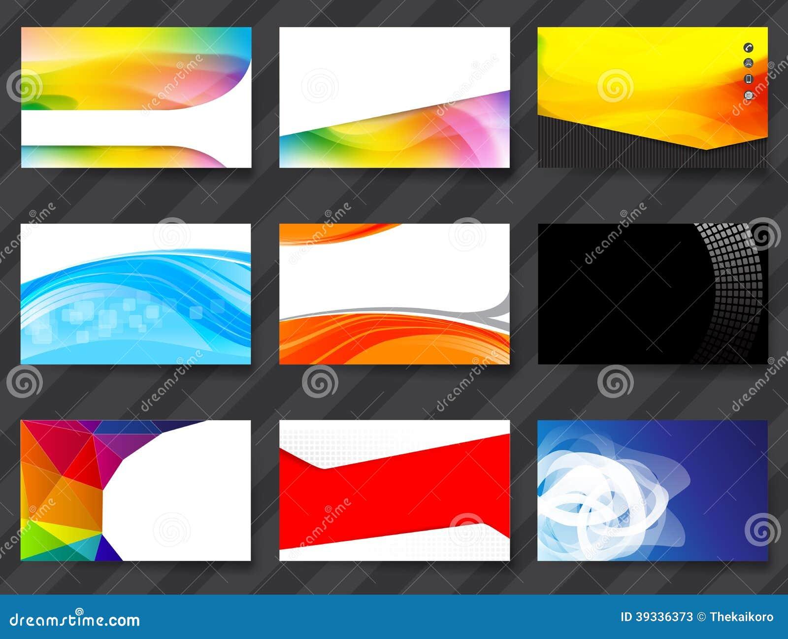 colorful namecard template 02 stock illustration image 39336373. Black Bedroom Furniture Sets. Home Design Ideas