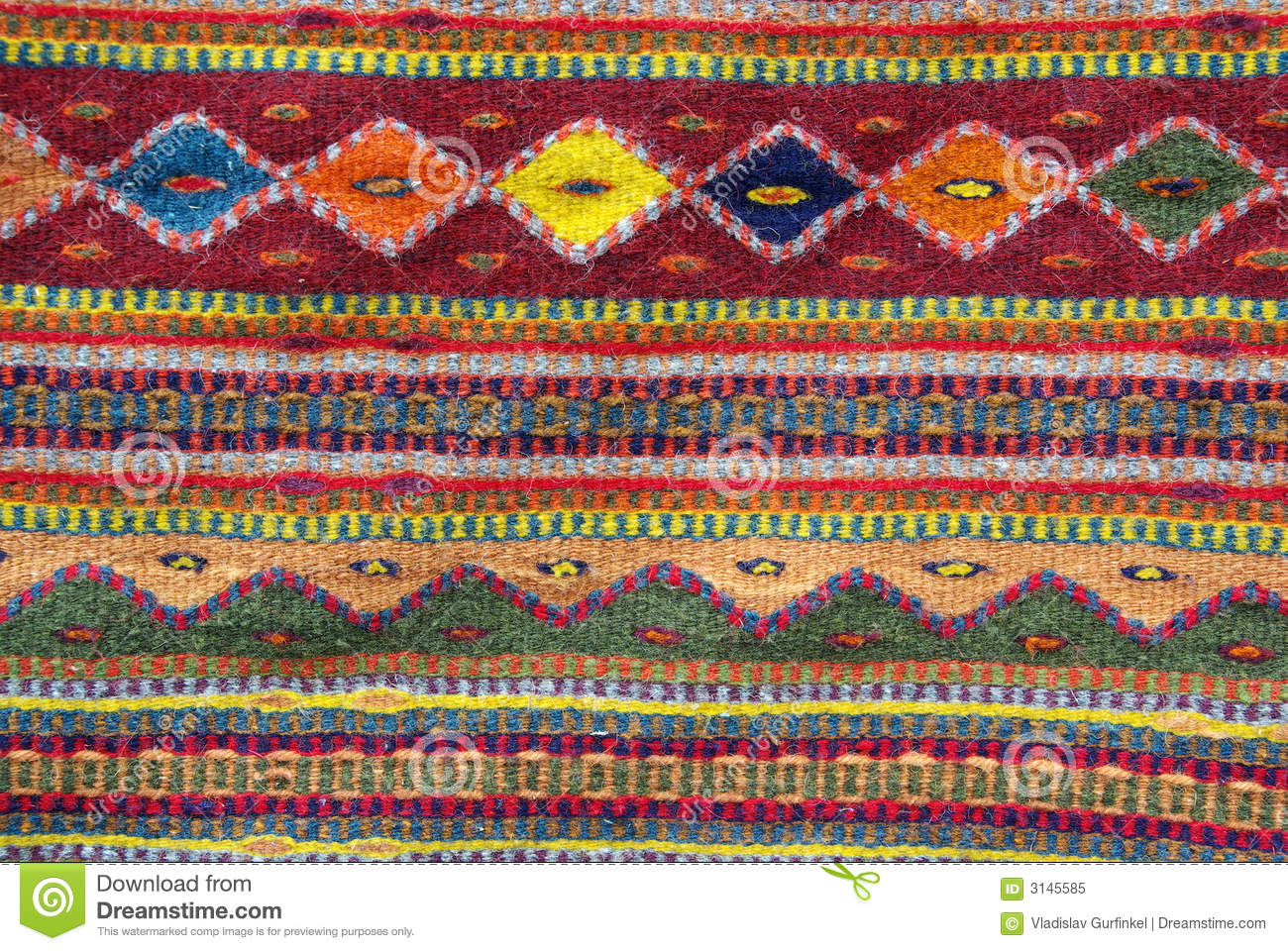Colorful Native American Rug Stock Image Image 3145585