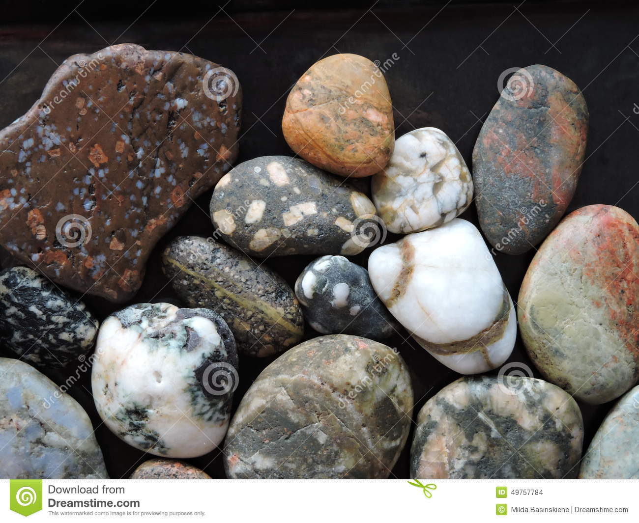 Colorful natural stones pattern