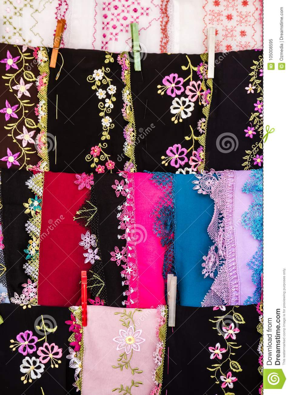Colorful Needle Embroidered Cloths