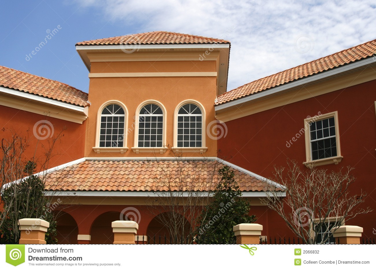 Download Colorful New Commercial Building Stock Photo - Image of arches, decorative: 2066832
