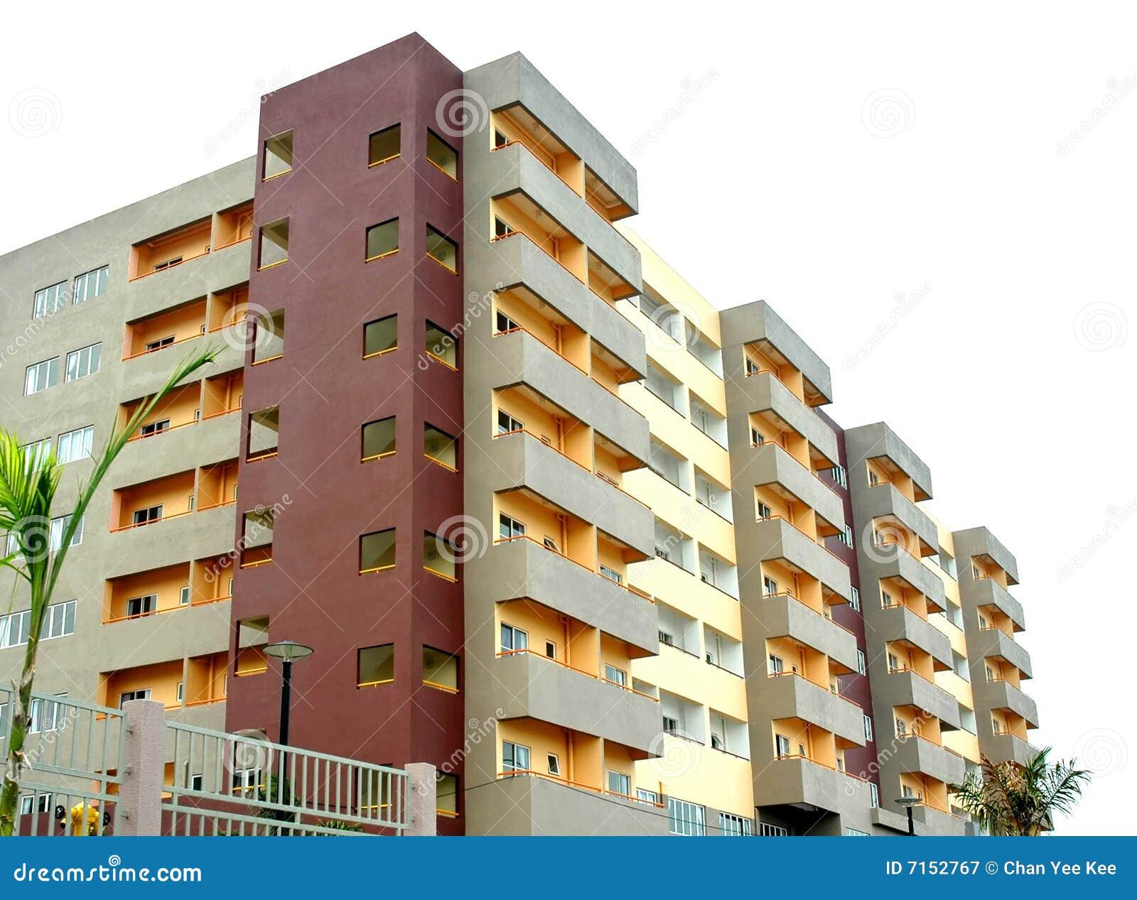 Colorful new condominium