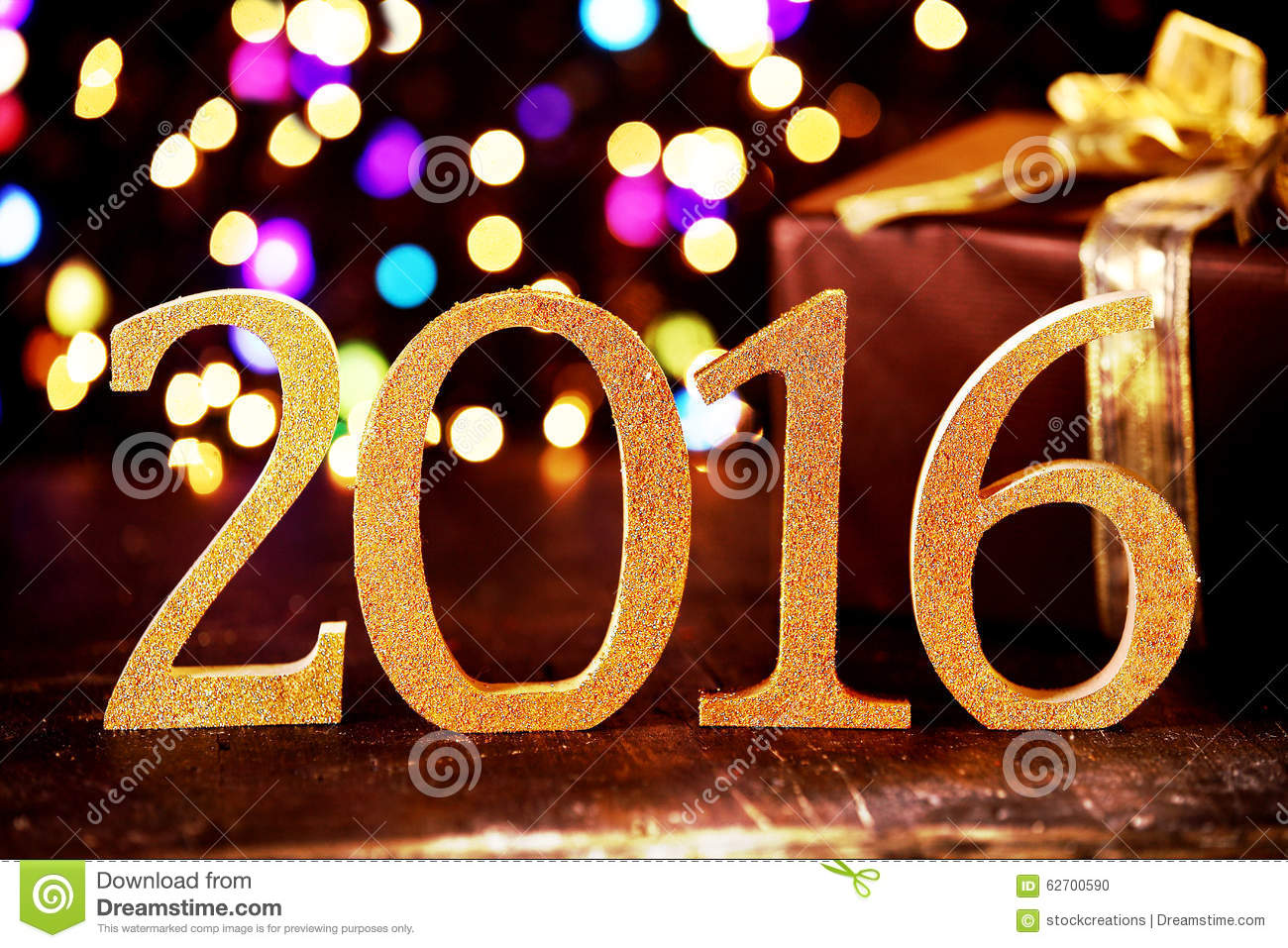 Colorful 2016 New Year party background