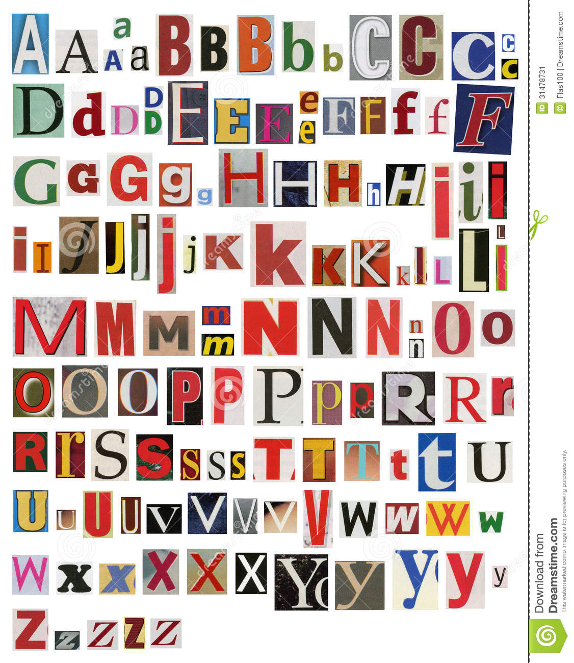 Colorful newspaper magazine alphabet stock image image for Alphabet photo letters