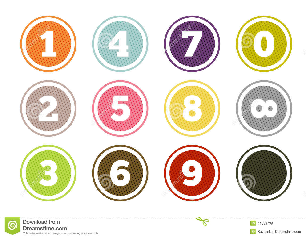 colorful number buttons set stock vector image 41088738 infinity symbol vector illustrator infinity symbol vector free download