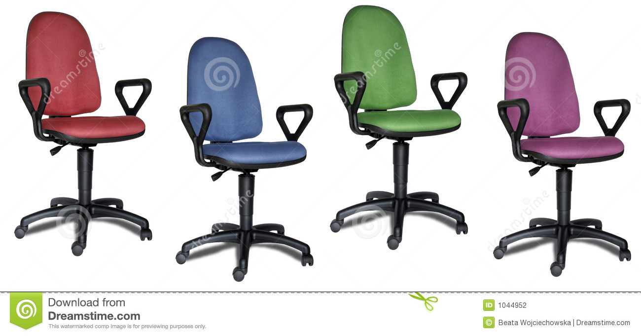 Colorful Office Chairs Stock Photo Image Of Desk Green