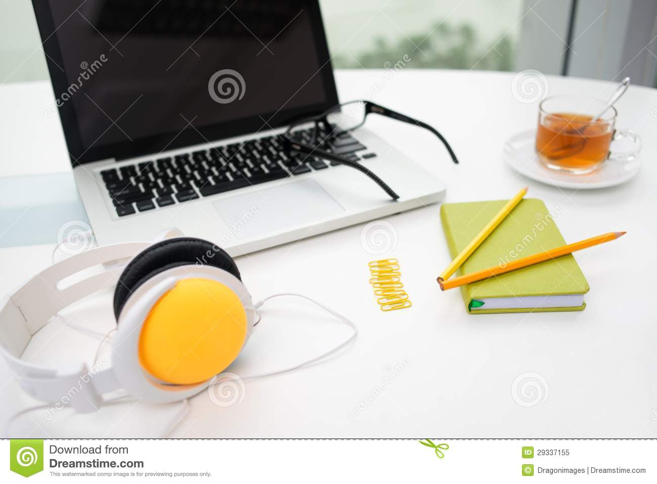 colorful office supplies royalty free stock photo image
