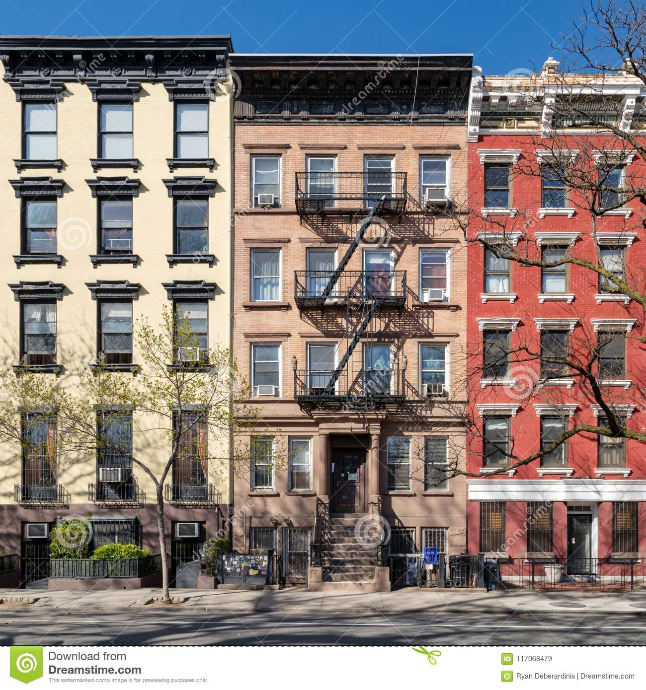 East Village New York Apartments: Colorful Old Buildings In The East Village Of New York