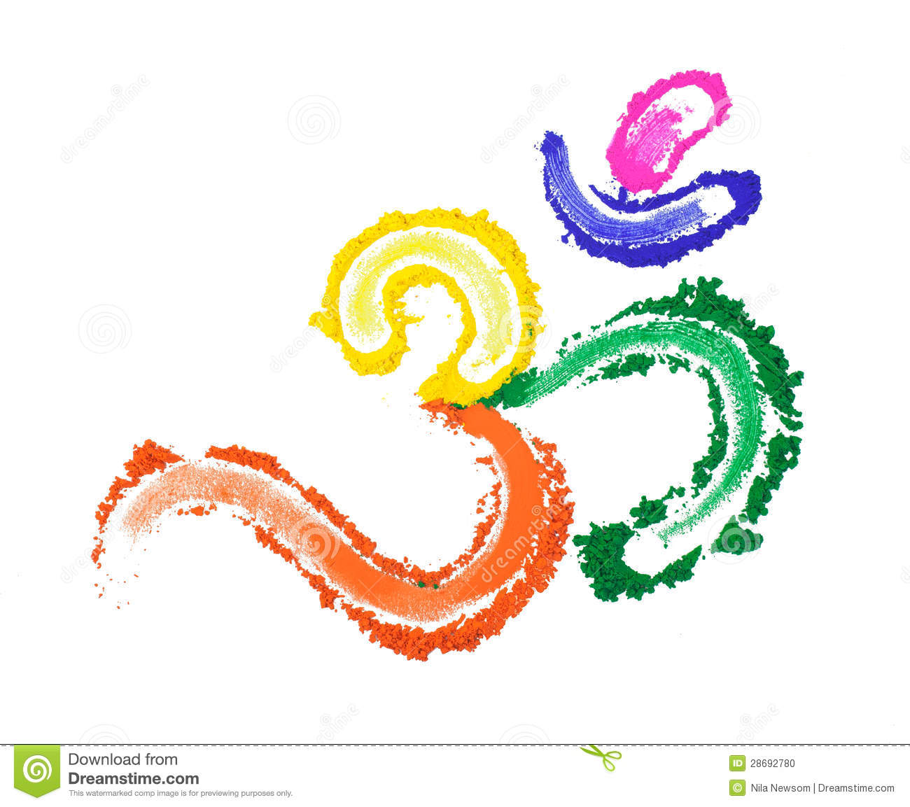 Colorful Om Stock Photo Image 28692780